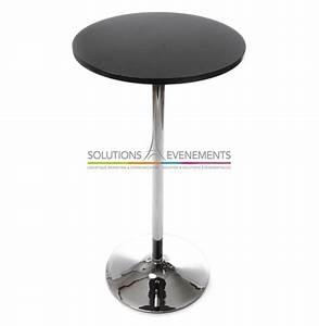 Table Haute Noire : location table haute mange debout ~ Teatrodelosmanantiales.com Idées de Décoration