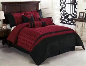 7 piece dynasty jacquard comforter set bed in a bag black red california king ebay