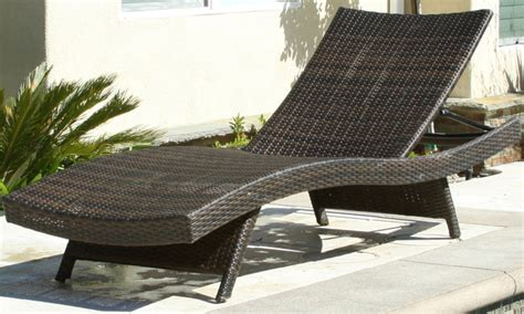 outdoor wicker lounge chair groupon goods