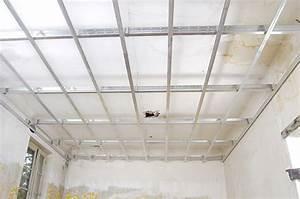 Suspentes Placo Tige Filetée : comment faire un plafond suspendu maison travaux ~ Dailycaller-alerts.com Idées de Décoration