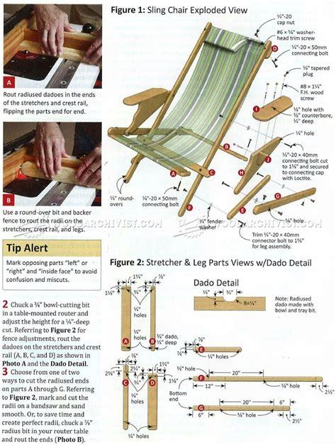 sling chair plans woodarchivist