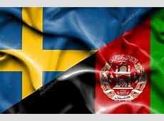 afghanistan och Sverige viftande flagga — Stockfotografi