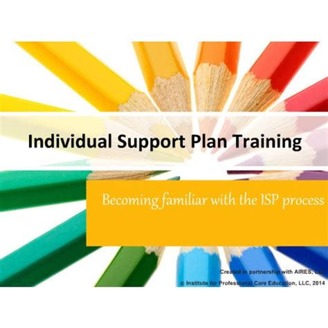 certification courses individual support plans for the developmentally disabled
