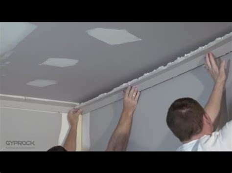 How To Cornice - how to install plasterboard part 5 installing cornice