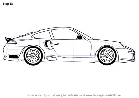 cartoon sports car side view learn how to draw a porsche car side view sports cars