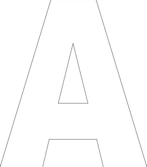 printable upper case alphabet template alfabeti