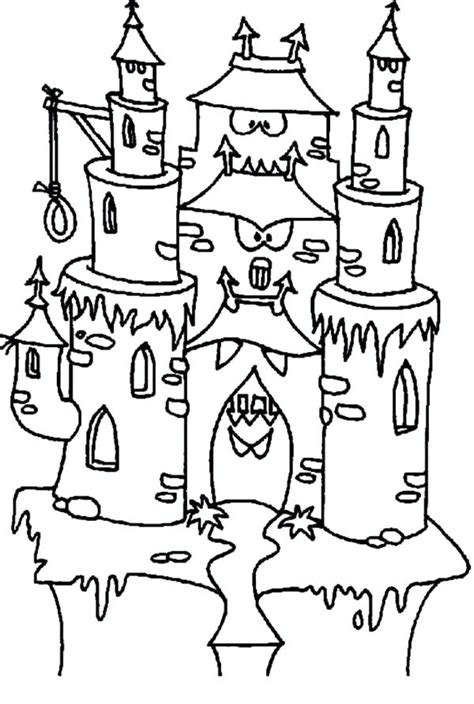 spooky castle coloring pages  getcoloringscom  printable colorings pages  print  color