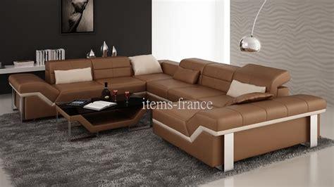 items canape canapé panoramique cuir naples canapé d 39 angle noir en