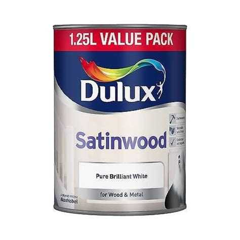 dulux  satin wood pure brilliant white paint