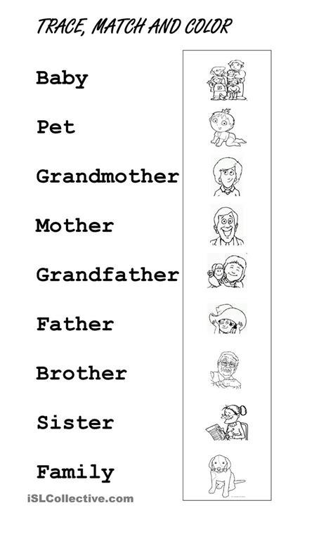 Family Worksheets For Preschool Homeshealthinfo