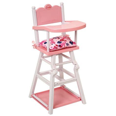 chaise haute pour poupon corolle grands poupons chaise haute pour poupon 36 42