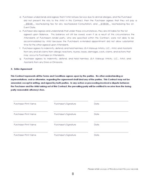 38 Brilliant Samples Of Blank Contract Forms Thogati