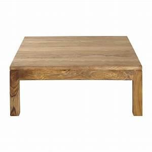 Solid sheesham wood coffee table W 100cm Stockholm