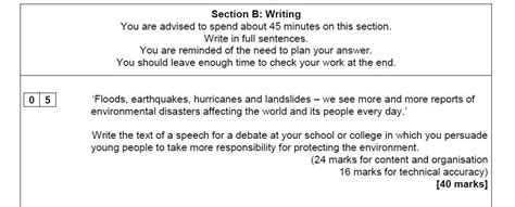 For question five i'm aware that they may ask for a speech, a letter, an article or even just an essay (i'm not sure if there are any more), and i (original post by itslibby) i don't think my paper 1 english language went anywhere near as well as i hoped it would, so i want to make up for it on paper 2. Paper 2 Question 5 Model Answer : Aqa Gcse English Language Paper 2 How To Improve Structure ...