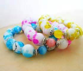 Neon Beaded Bracelet Neon Jewelry Stacking Bracelet Blue