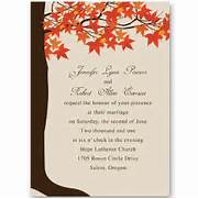 Red Maple Tree Fall Wedding Invitations EWI251 As Low As Fall Wedding Invitations With Pumpkins Cheap Autumn Wedding InvitationsWedWebTalks WedWebTalks Fall Wedding Invitations Cheap Invites At