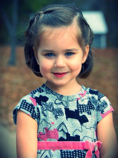 cute kid short hairstyles best cute simple unique little girls kids hairstyles