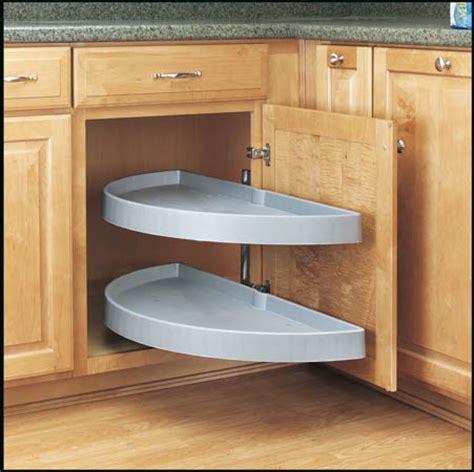 rev a shelf lazy susan lowes half moon pivot slide out for blind corners rev a shelf