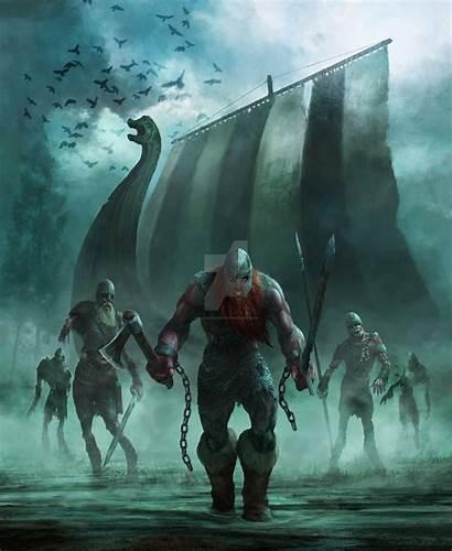 Viking Dead Norse Badass Warrior Vikings Fantasy