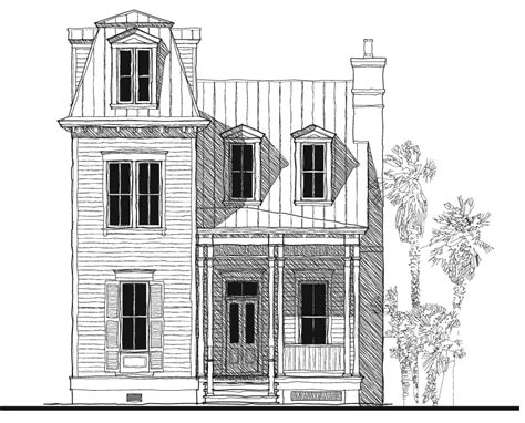 second empire tower house plan c0387 design from allison