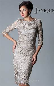 2013 fashion straight crew 3 4 sleeve lace knee length With 3 4 sleeve wedding guest dress