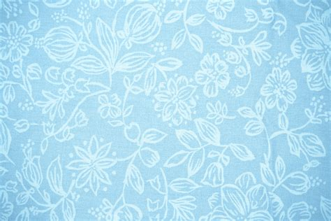 baby blue fabric with floral pattern texture picture