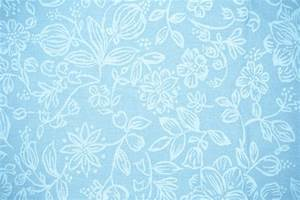 Baby Blue Fabric with Floral Pattern Texture Picture ...