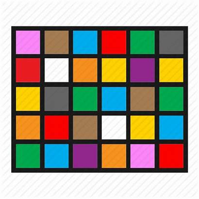 Graphic Grid Squares Icon Colorful Graph Infographic