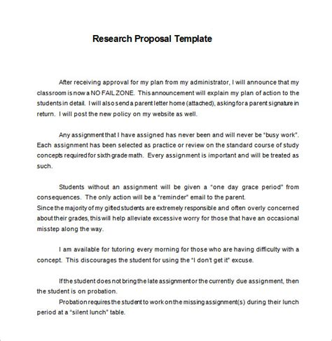 research proposal templates   excel