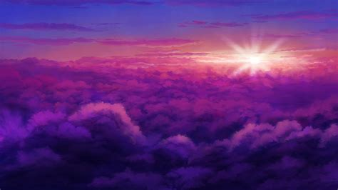 Anime Sunset Wallpaper - 1920x1080 anime landscape clouds sunset