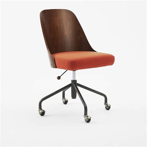bentwood office chair modern office chairs by west elm