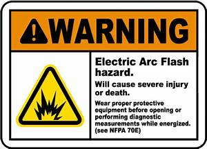 warning electric arc flash hazard label j5519 by With arc flash decals