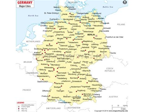 buy map  germany  cities