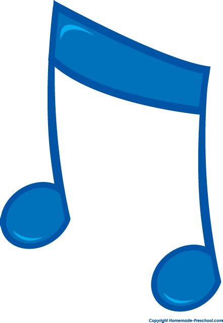 Blue Music Notes Clip Art Free