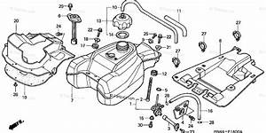 Honda Atv 2001 Oem Parts Diagram For Fuel Tank