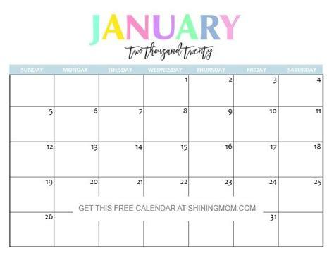 printable january calendars   printable calendar
