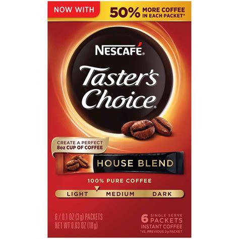 Now, beat the mixture on high. (12 Pack) NESCAFE TASTERS CHOICE House Blend Medium Light ...