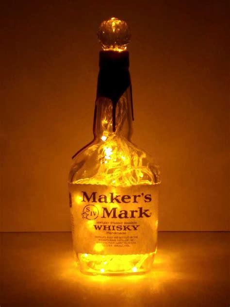 makers mark liquor bottle light gold leds  bottle