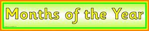 Months Of The Year Display Banner  Sb4735