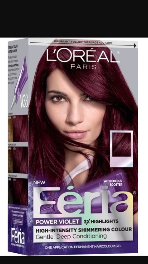 feria deep intense violet violet burgundy boxed hair