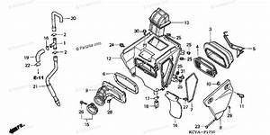 Honda Motorcycle 2004 Oem Parts Diagram For Air Cleaner  A