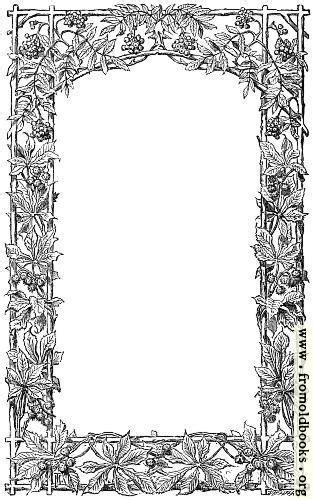 victorian vine leaf page border