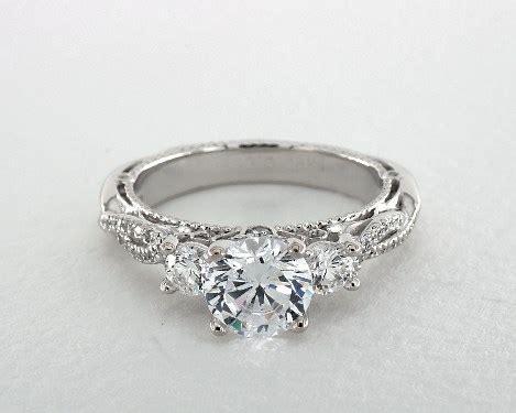 verragio venetian engagement ring  white gold