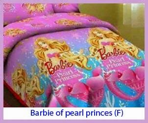 penambahan bed cover motif sprei of pearl princes f sprei bed