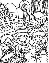 Merdeka Coloring Colouring Mewarna Gambar Princess Sheets Template Widget Colour Hari Malaysia Poster Capital Letters Sketch Flag sketch template