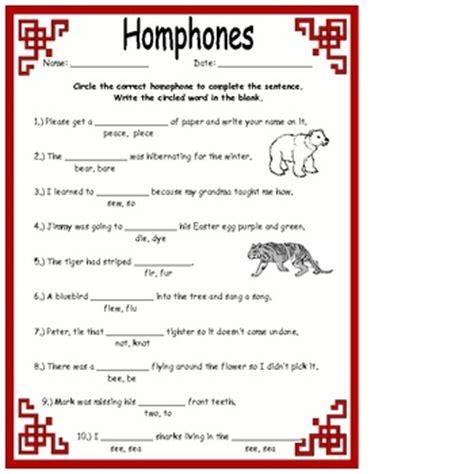homonyms homophones activities