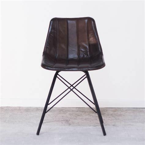 chaise cuir vintage vente meuble industriel pas cher mobilier intérieur