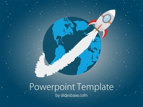 templates space powerpoint space rocket powerpoint template slidesbase