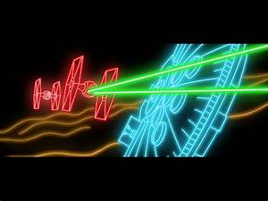 A Colorful Animated Neon Light Version of the Star Wars