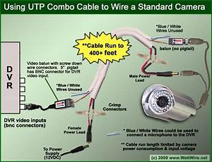 Preparing Utp Combo Cable For Camera  Dvr Connection Using